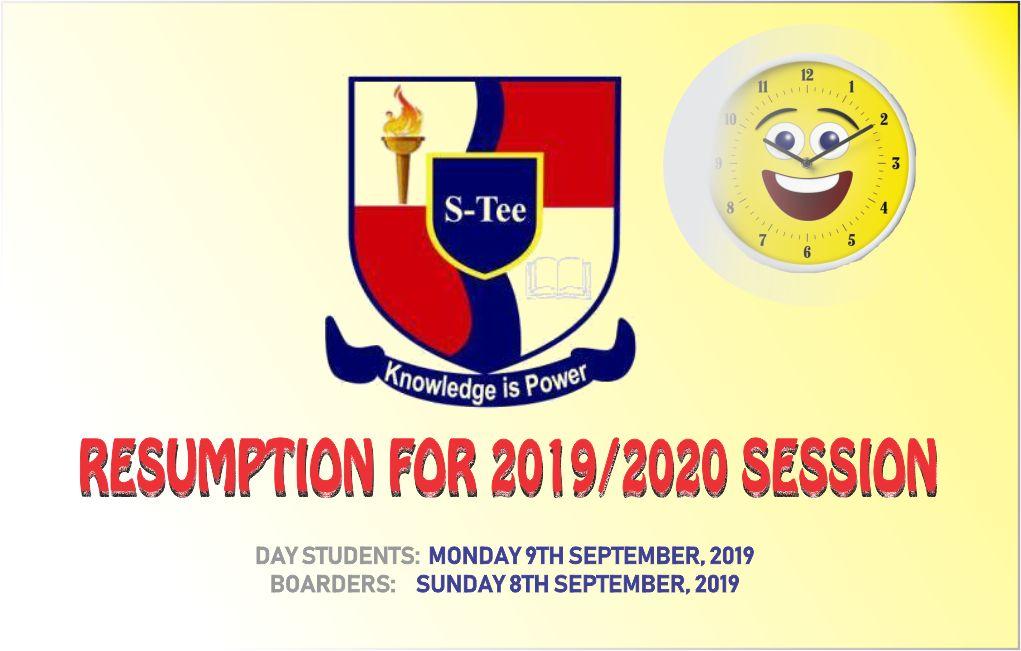 20192020 resumption